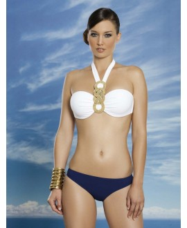 Bikini with push-up balconet bandeau and middle strap