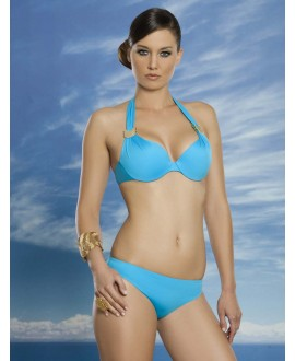 Moulded push-up bikini with oil padding
