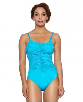 Shape controll richly ruched one piece, tiny straps