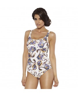 Shape controll one piece with soft form cup, wide straps