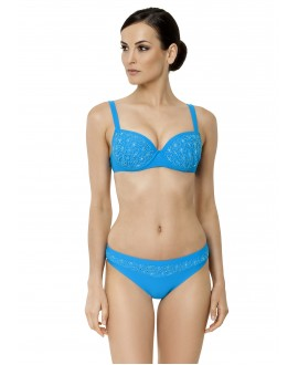 Bikini with embroidery on preformed deep cup